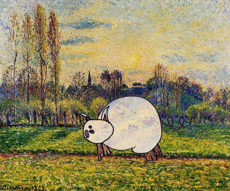 Ergany pig in bazincourtpissarro